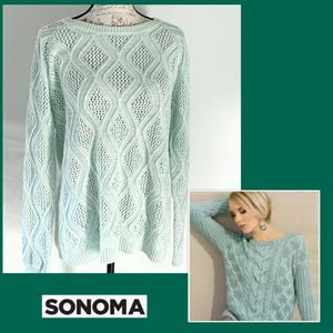 Sonoma Mint color knit sweater